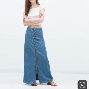 Zara extra long maxi skirt size XS